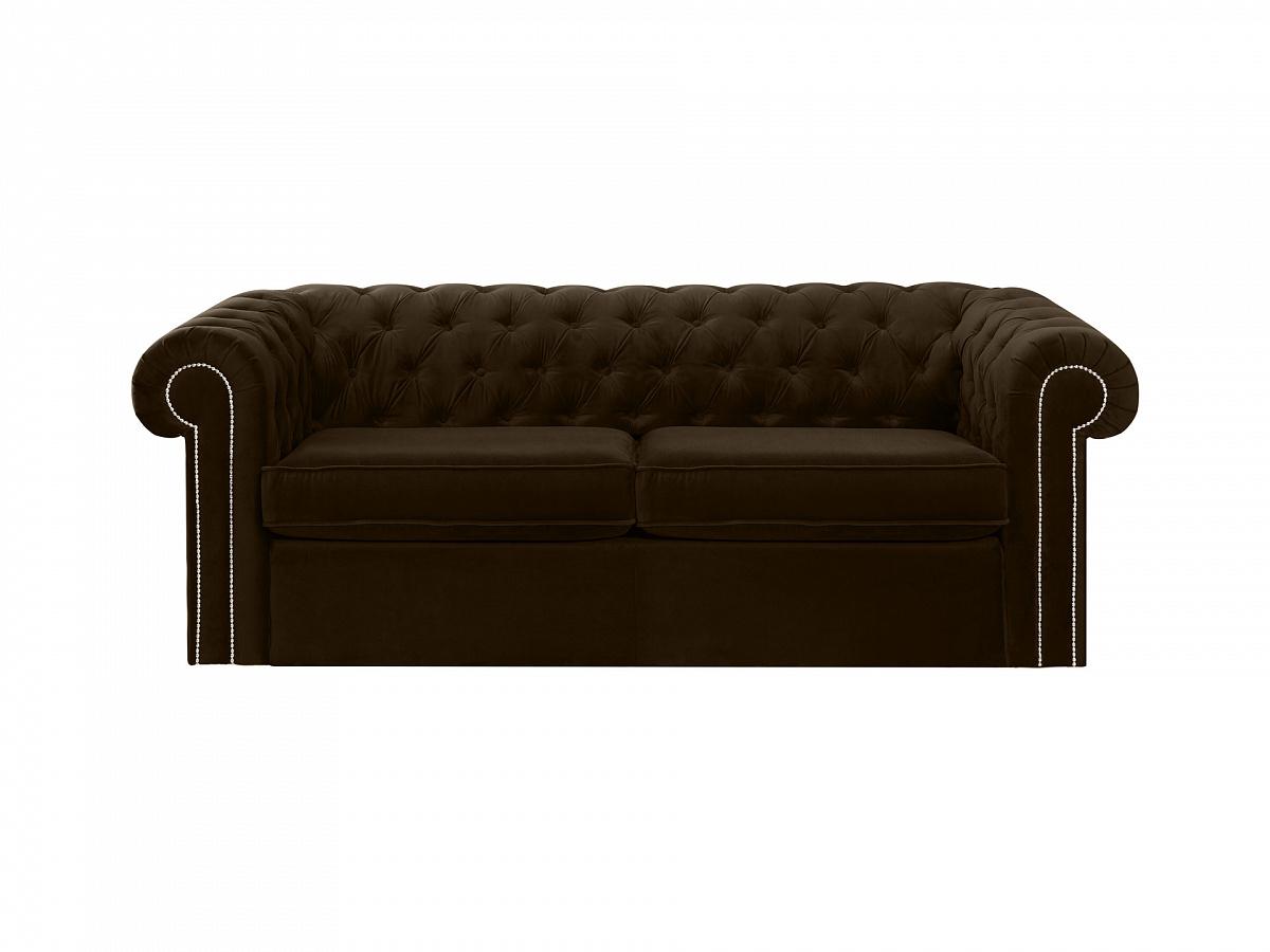 Ogogo диван chesterfield коричневый 109195/1