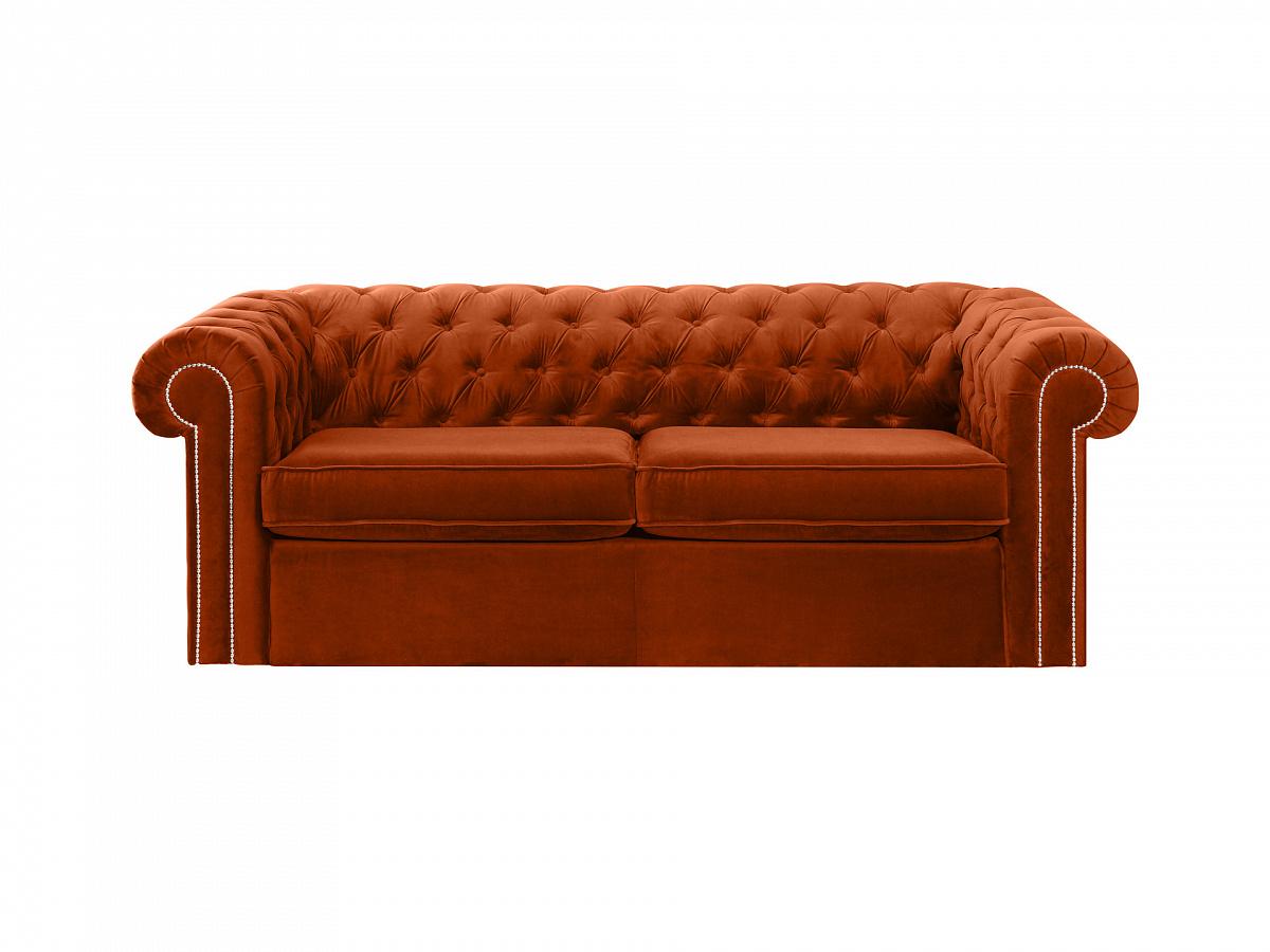 Ogogo диван chesterfield коричневый 109198/5