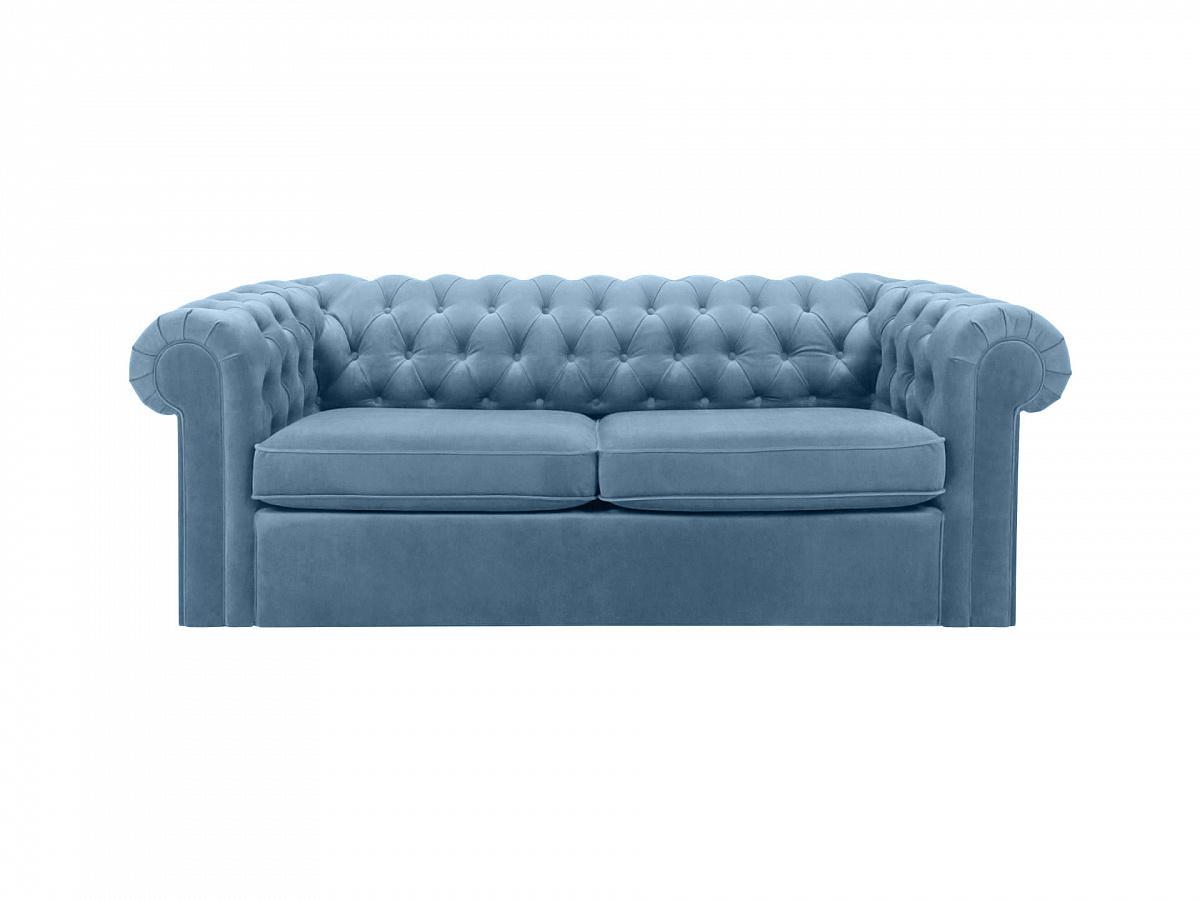 Ogogo диван chesterfield голубой 109204/5
