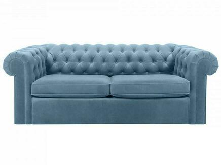 Диван chesterfield (ogogo) голубой 208x73x105 см.