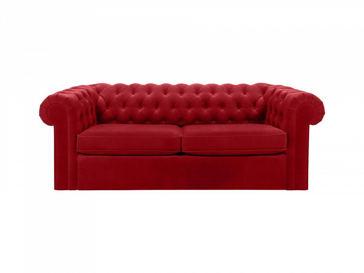 Ogogo диван chesterfield красный 109207/2