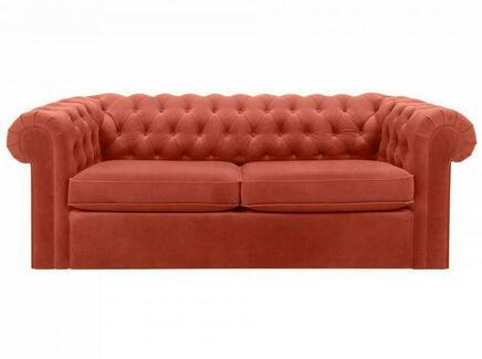 Диван chesterfield (ogogo) оранжевый 208x73x105 см.