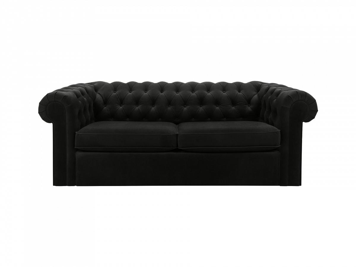 Ogogo диван chesterfield черный 109215/9