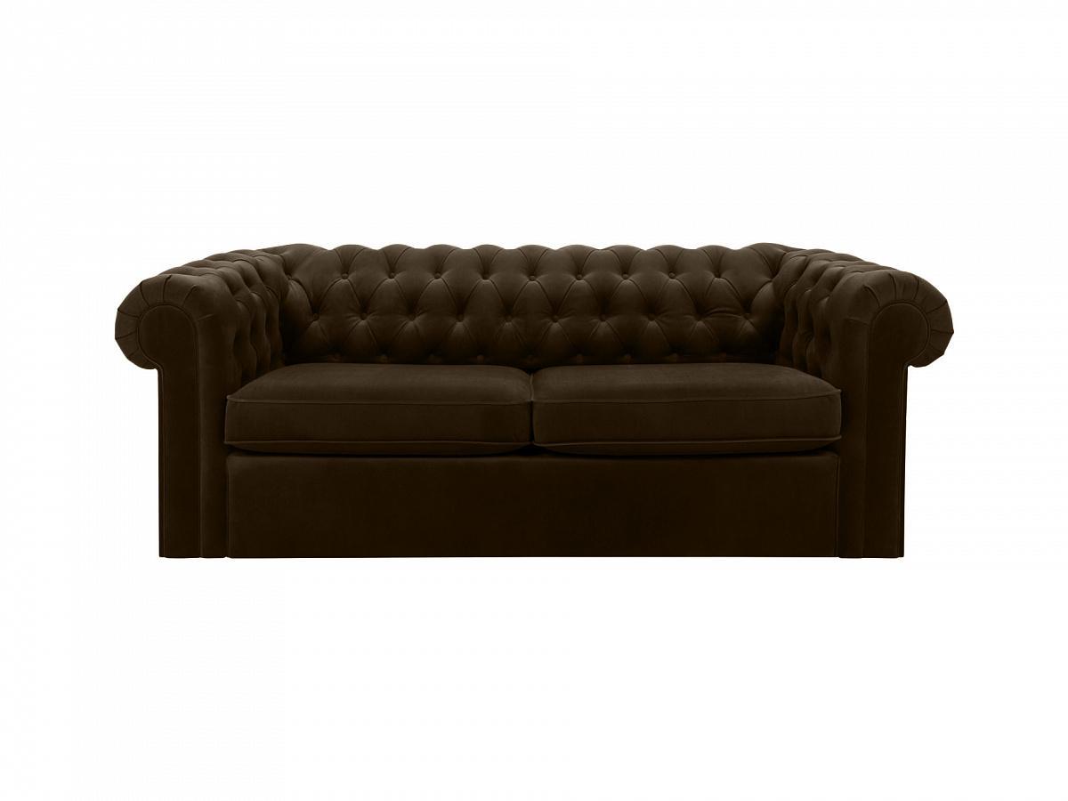 Ogogo диван chesterfield коричневый 109217/6
