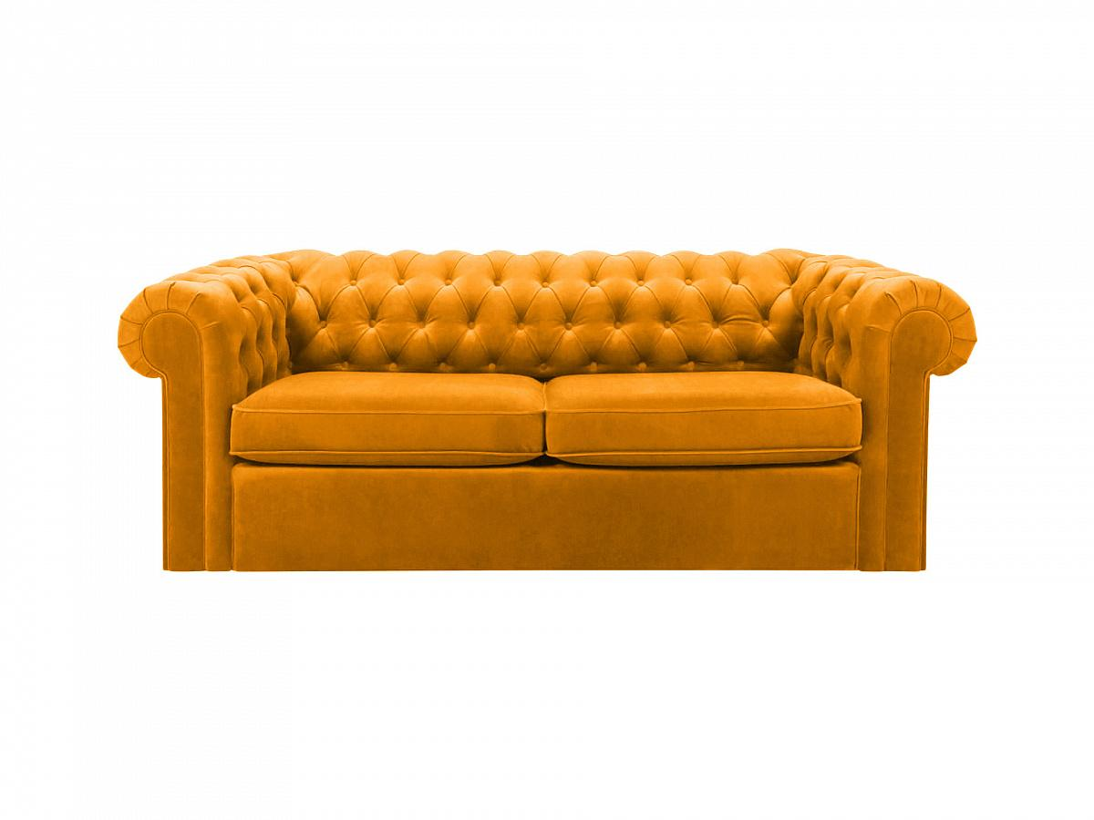 Ogogo диван chesterfield желтый 109220/3