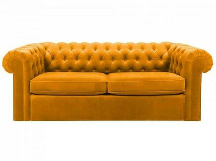 Диван chesterfield (ogogo) желтый 208x73x105 см.