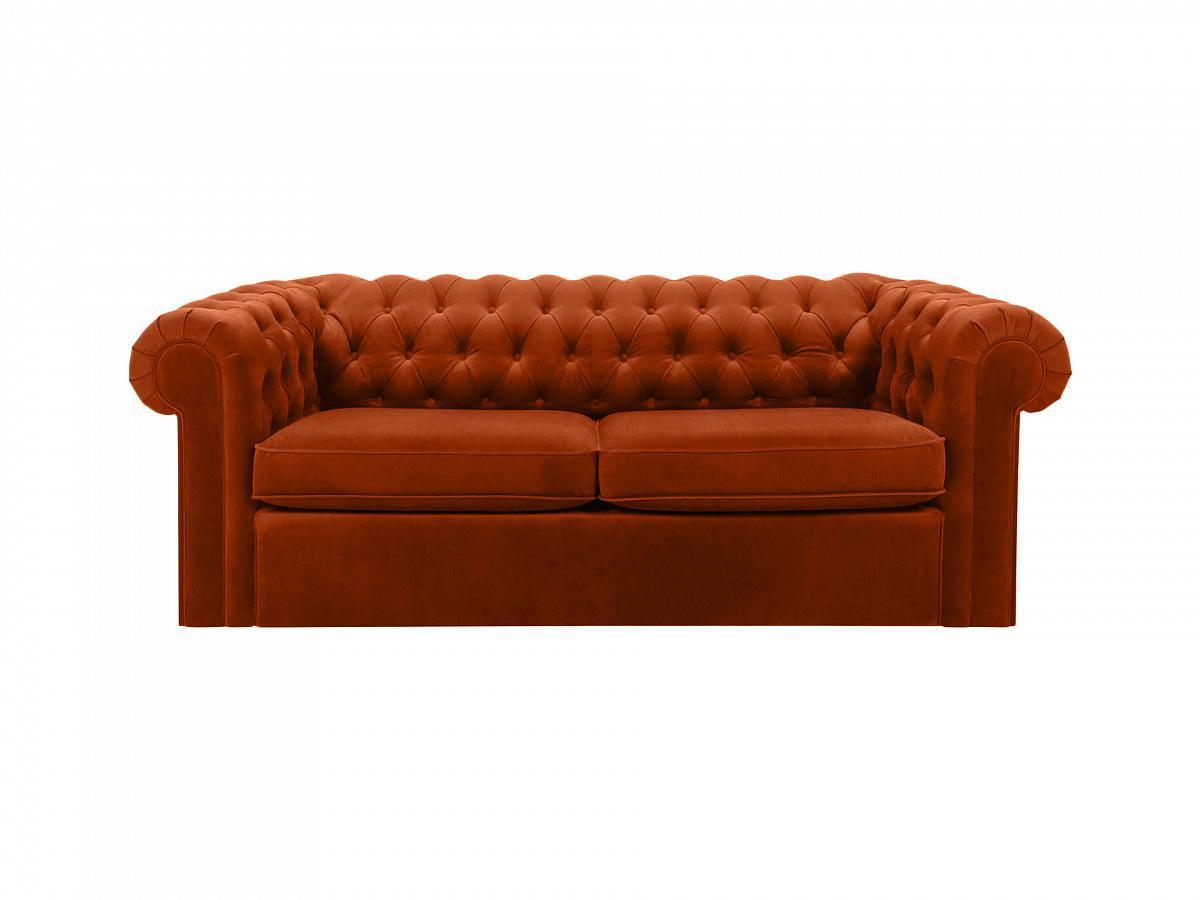 Ogogo диван chesterfield коричневый 109221/3