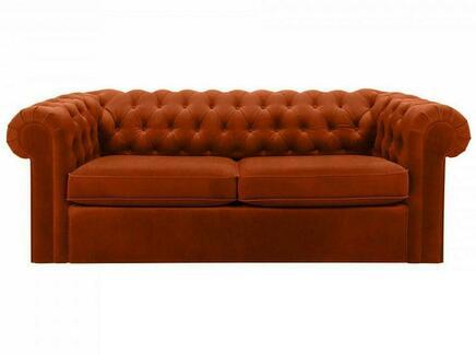 Диван chesterfield (ogogo) коричневый 208x73x105 см.