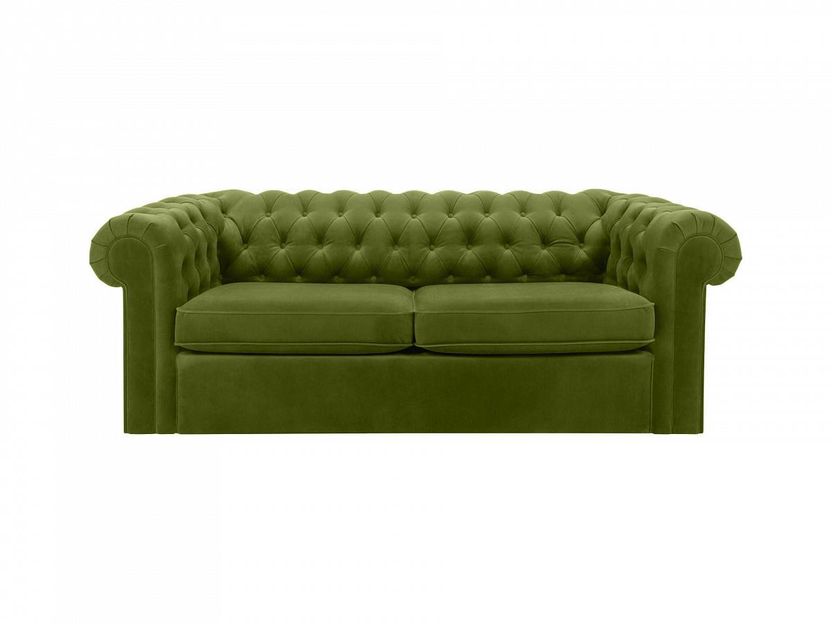 Ogogo диван chesterfield зеленый 109222/8
