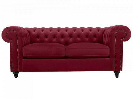 Диван chester classic (ogogo) красный 183x75x80 см.