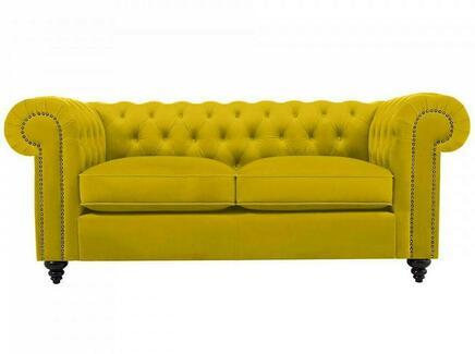 Диван chester classic (ogogo) желтый 183x75x80 см.