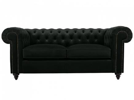 Диван chester classic (ogogo) черный 183x75x80 см.