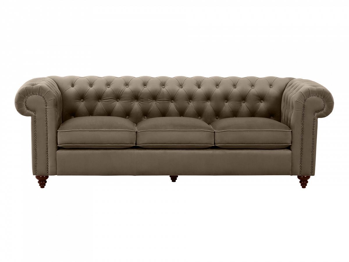 Ogogo диван chester classic серый 109291/9