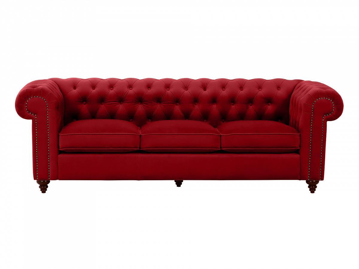 Ogogo диван chester classic красный 109296/7