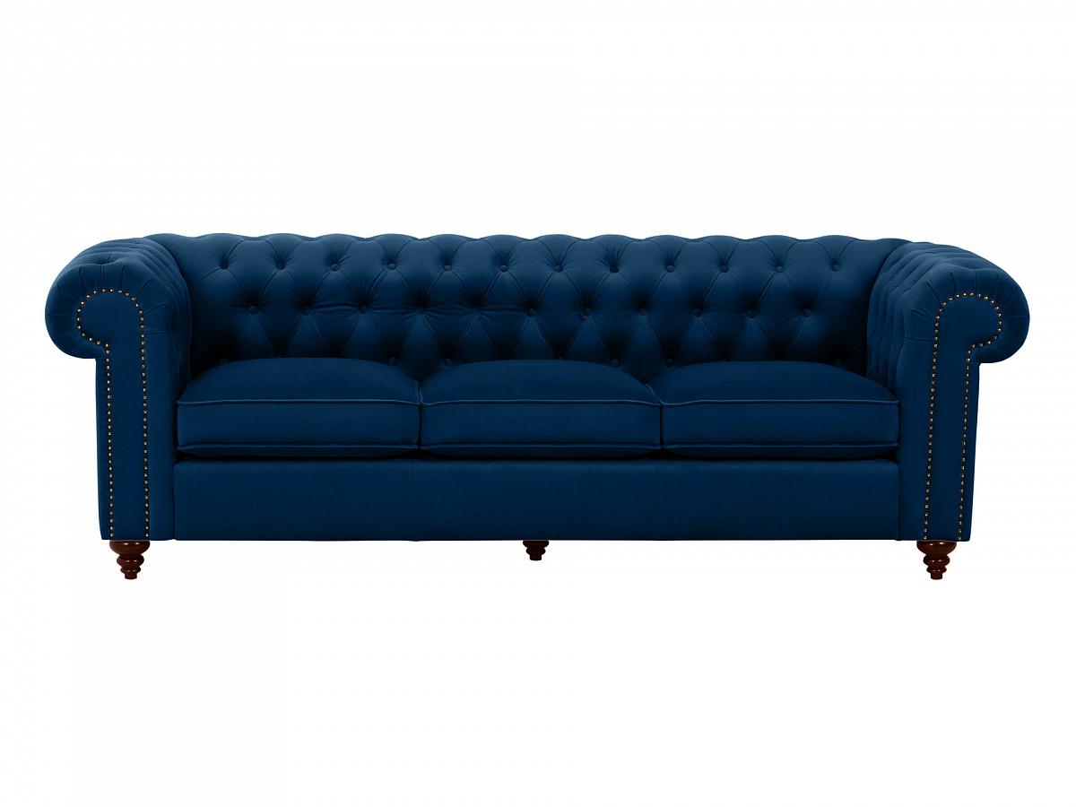Ogogo диван chester classic синий 109303/1