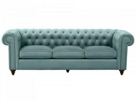 Диван chester classic (ogogo) голубой 226x75x80 см.