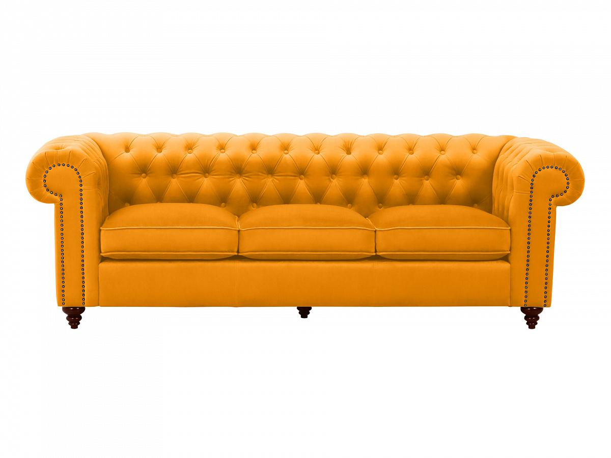Ogogo диван chester classic желтый 109310/109333
