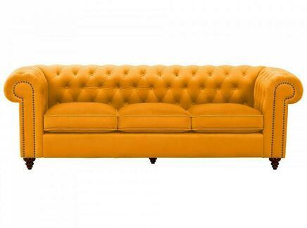 Диван chester classic (ogogo) желтый 226x75x80 см.