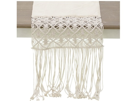 Скатерть-дорожка kilimli (to4rooms) белый 40x180x1 см.
