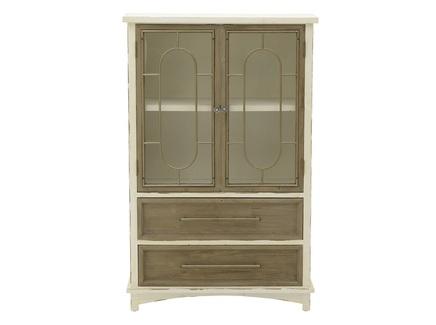 Шкаф-витрина dianne (to4rooms) бежевый 80x124x35 см.