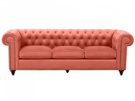 Диван chester classic (ogogo) оранжевый 226x75x80 см.