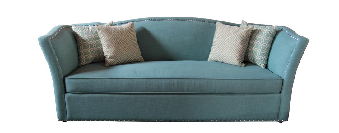 ДиванПрямые раскладные диваны<br>Диван от бренда Garda Decor станет украшением романтичного интерьера, выполненного в приглушенных тонах. Плавные контуры спинки, сливающейся с подлокотниками, создают теплый и уютный образ. Обивка выполнена из льняной ткани бирюзового оттенка, что придает модели легкий шарм. Тонкие черты французского шика угадываются по изящному силуэту и эффектному декору в виде мебельных гвоздиков. &amp;amp;nbsp;<br><br>Material: Лен<br>Length см: None<br>Width см: 219<br>Depth см: 85<br>Height см: 87<br>Diameter см: None