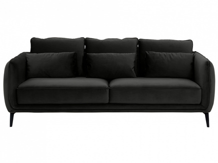Диван amsterdam (ogogo) черный 206x85x95 см.