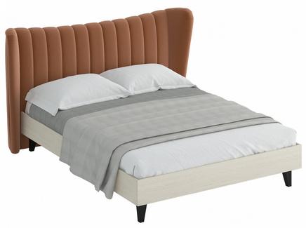 Кровать queen agata (ogogo) коричневый 203x112x225 см.