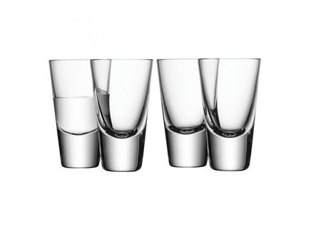 Набор из 4 стопок для водки bar (lsa international) прозрачный 5x10x5 см.