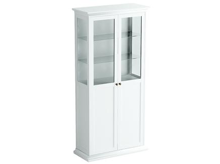 Шкаф-витрина reina (ogogo) белый 97x201x42 см.