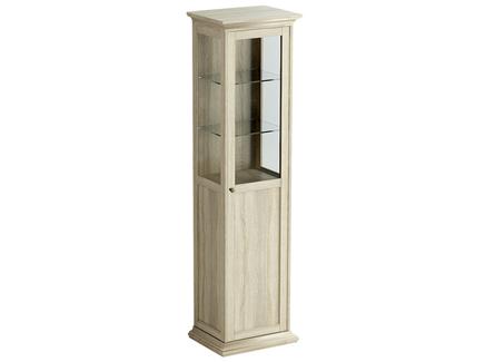 Шкаф-витрина reina (ogogo) бежевый 55x201x42 см.