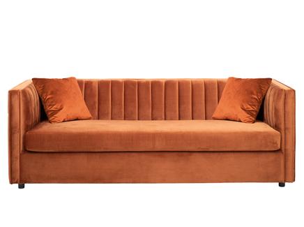 Диван paolo трехместный раскладной терракотовый (garda decor) оранжевый 232x74x91 см.