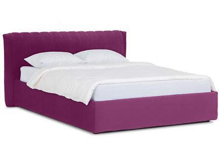 Кровать queen anastasia lux (ogogo) фиолетовый 187x95x226 см.