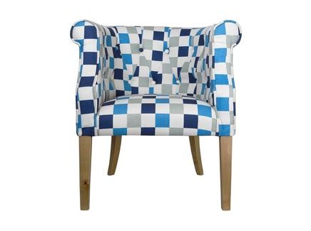Кресло laela cubes (mak-interior) голубой 63x86x68 см.