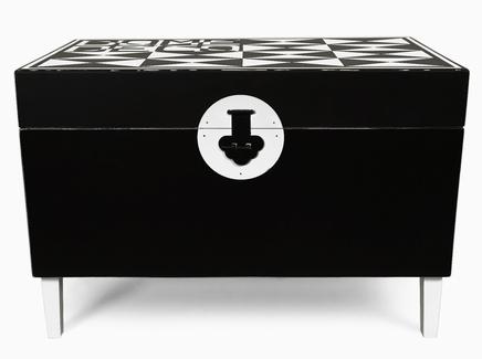Журнальный стол сундук gabal (mak-interior) черный 77x52x46 см.