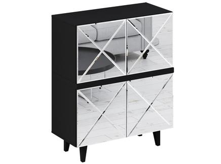 Шкаф kristal (ogogo) черный 97x117x44 см.