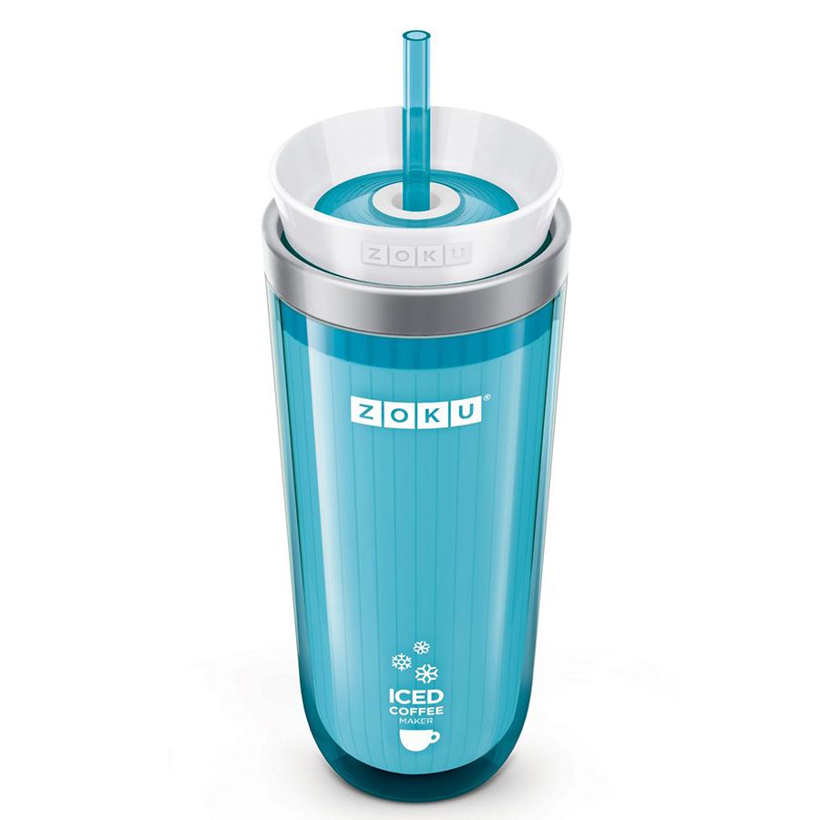 Стакан для охлаждения напитков iced coffee maker (zoku) голубой 9x21x9 см.