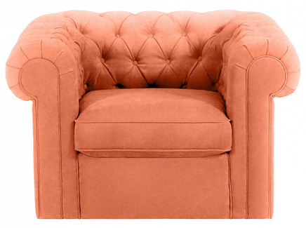 Кресло chesterfield (ogogo) оранжевый 115x73x105 см.