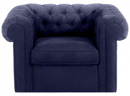 Кресло chesterfield (ogogo) синий 115x73x105 см.