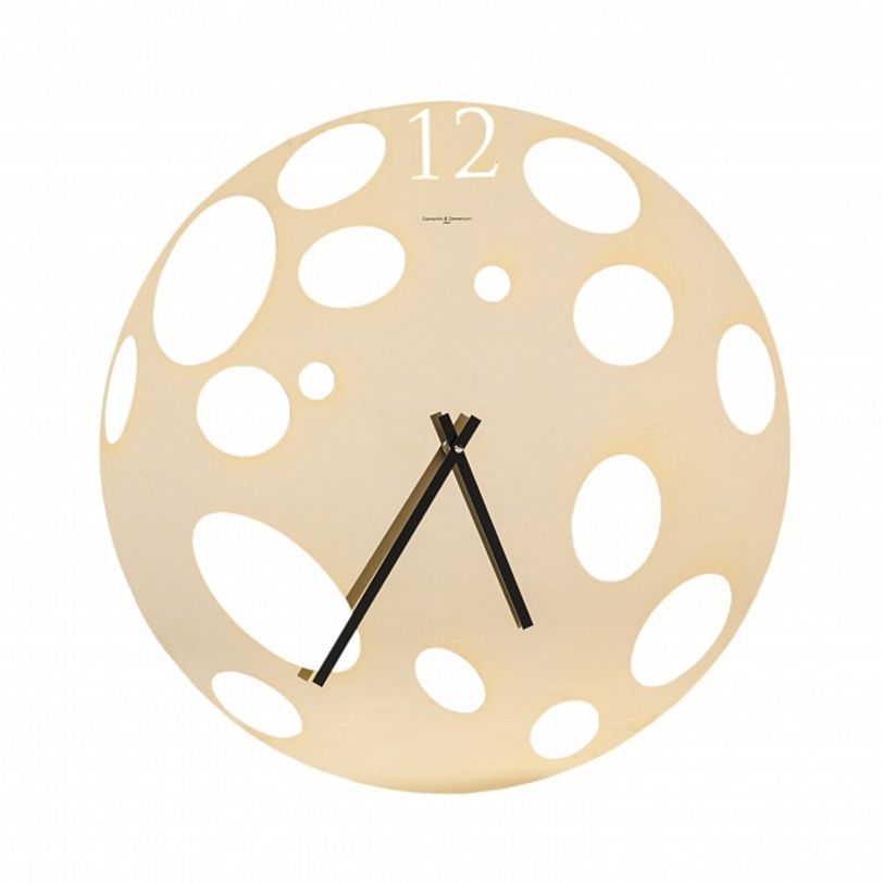 Часы настенные MoonНастенные часы<br>Современные настенные часы должны привлекать внимание и служить элементом декора, как этот предмет из нержавеющей стали, напоминающий форму луны.<br><br>Материал: нержавеющая сталь; хром<br><br>Material: Сталь<br>Ширина см: 50<br>Высота см: 50<br>Глубина см: 2