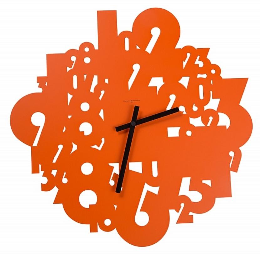 Часы настенные TimelessНастенные часы<br>Символичные настенные часы с изображением силуэтов чисел будут напоминать о ценности времени. Ярко-оранжевый цвет отлично подойдет для кухонного интерьера.<br><br>Material: Металл<br>Length см: None<br>Width см: 50<br>Depth см: 2<br>Height см: 50<br>Diameter см: None
