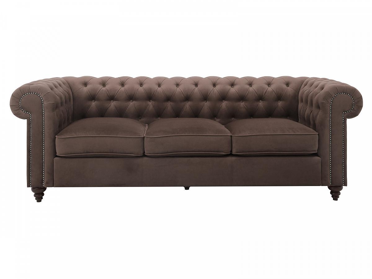 Ogogo диван chester classic коричневый 111201/4