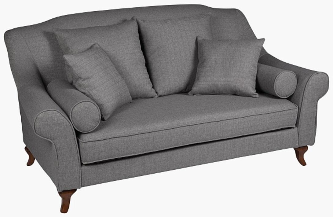 ДиванДвухместные диваны<br>&amp;lt;div&amp;gt;Небольшой диван в романтичном французском стиле оббит плотной тканью, похожей на рогожку, с внешней отстрочкой швов. Небольшие изогнутые ножки выточены из древесного массива. Объемные подушки и валики,а также независимая подушка-сиденье делают мебель классических форм по-домашнему уютной.&amp;lt;/div&amp;gt;<br><br>Material: Текстиль<br>Length см: None<br>Width см: 180<br>Depth см: 96<br>Height см: 96<br>Diameter см: None