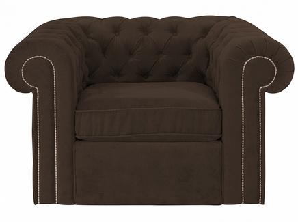Кресло chesterfield (ogogo) коричневый 115x73x105 см.