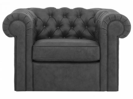 Кресло chesterfield (ogogo) серый 115x73x105 см.
