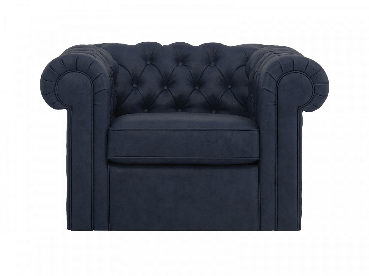 Кресло chesterfield (ogogo) черный 115x73x105 см.
