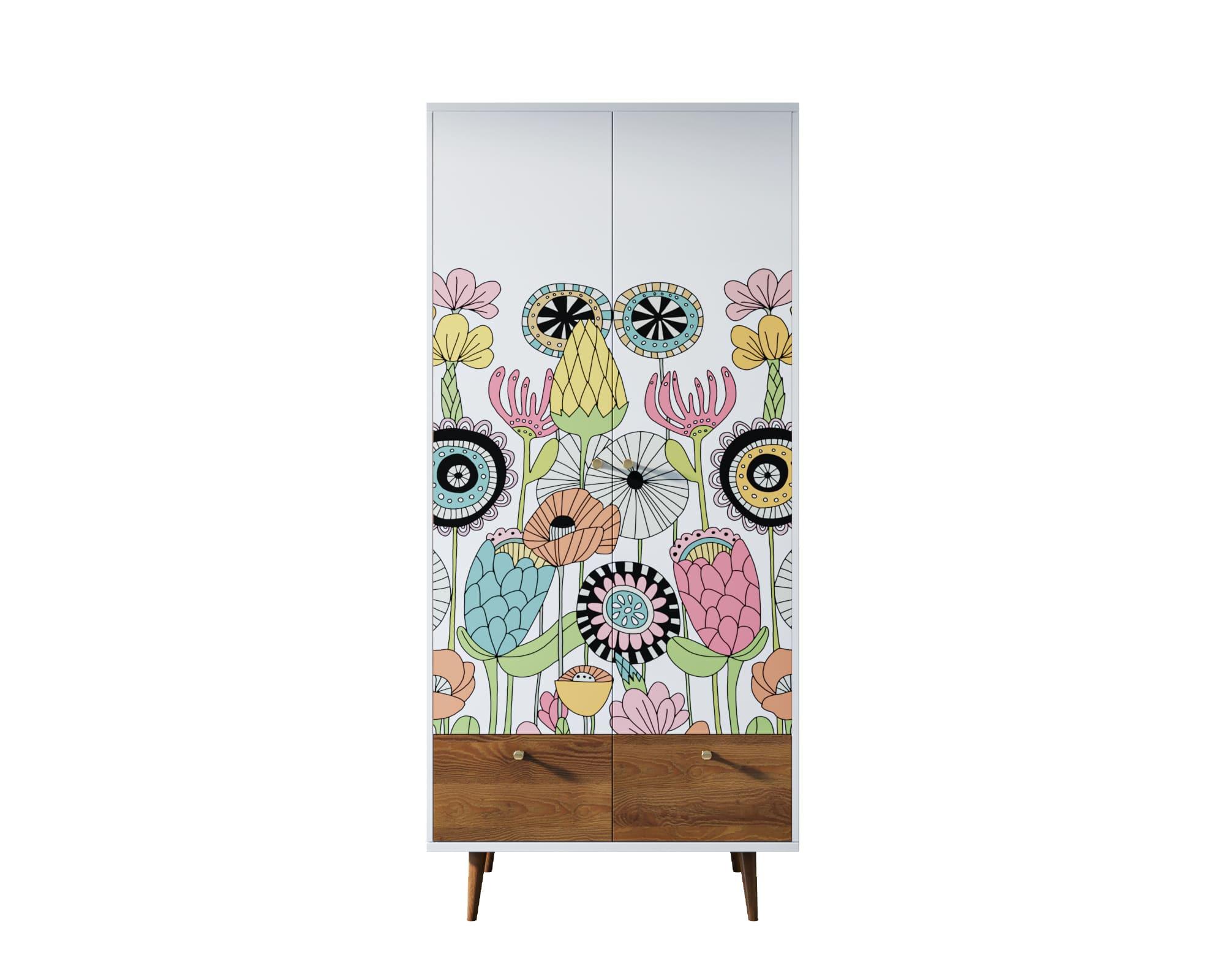 Шкаф berber (etg-home) мультиколор 90x200x50 см. фото