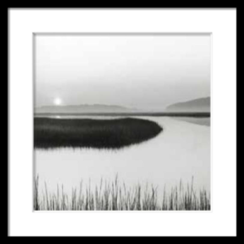 Постер The BoardwalkПостеры<br>Умиротворяющая картина -- вечерний пейзаж с водой, небом и водными растениями. Успокаивающий жффект оказывает и сам формат постера -- это абсолютный квадрат.<br><br>Material: Бумага<br>Width см: 69<br>Depth см: 4<br>Height см: 69
