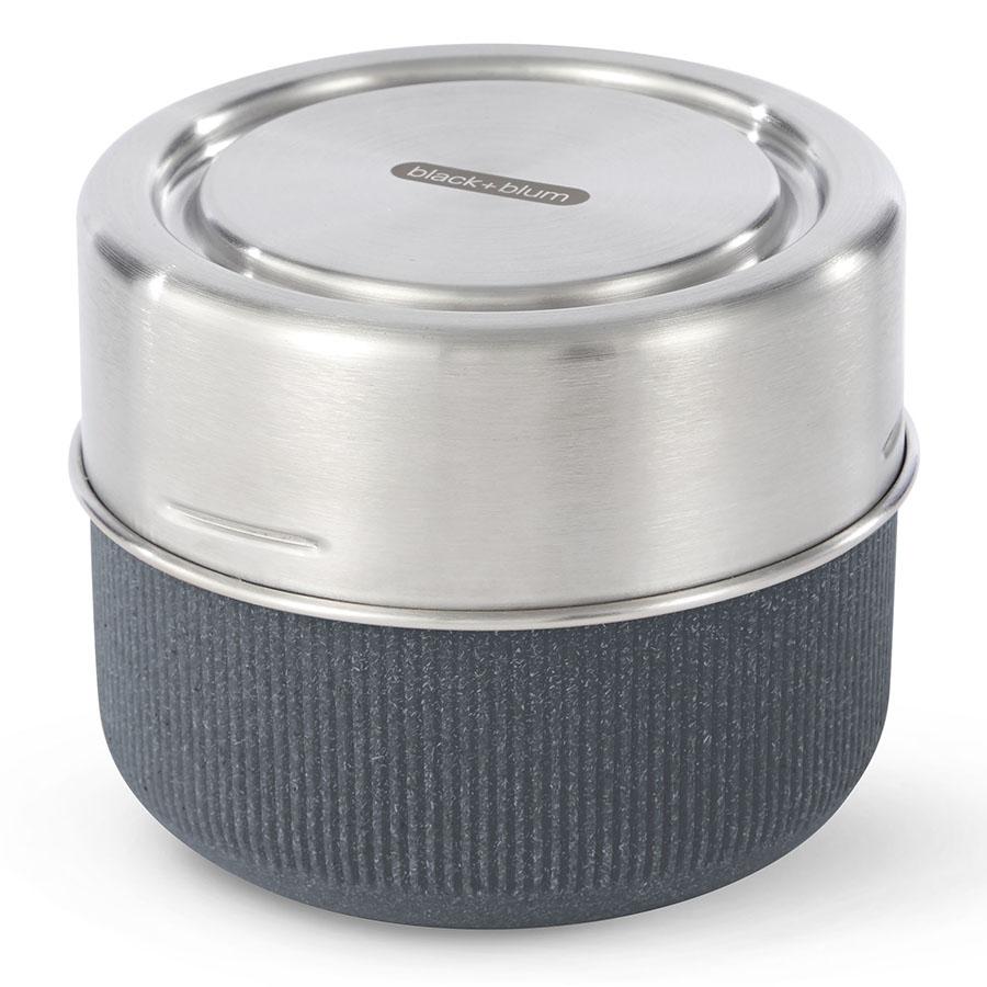 Ланч-бокс glass lunch pot (black+blum) синий 12x9x12 см..