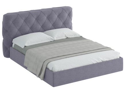 Кровать ember (ogogo) серый 189x113x237 см.
